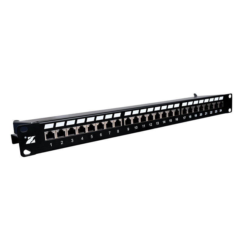 24 Port CAT5e Shielded Patch Panel